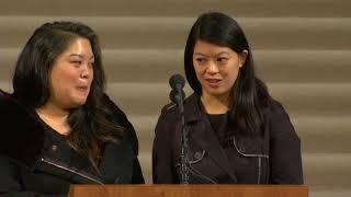 VIDEO: San Francisco Mayor Ed Lee's daughters speak at memorial service