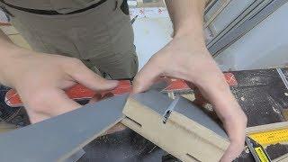 Изготовление  шипа в телескопическом доборе. В дверную коробку не встает добор. Выход из ситуации.