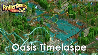 RollerCoaster Tycoon 2: Oasis (Mirage Madness) Timelapse