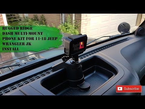 Rugged Ridge Multi-Mount Phone Kit 11-18 Jeep Wrangler JK Install