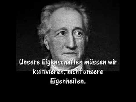 Zitate Von Wolfgang Johann Von Goethe Youtube