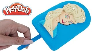 Play Doh How to Make a Disney Frozen Elsa Ice Cream Popsicle RainbowLearning