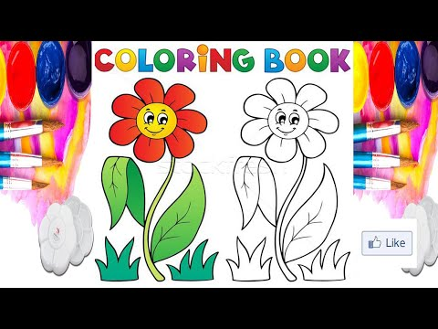 Flover Drawing And Coloring Cicek Cizimi Ve Boyama Jolly Toy Art