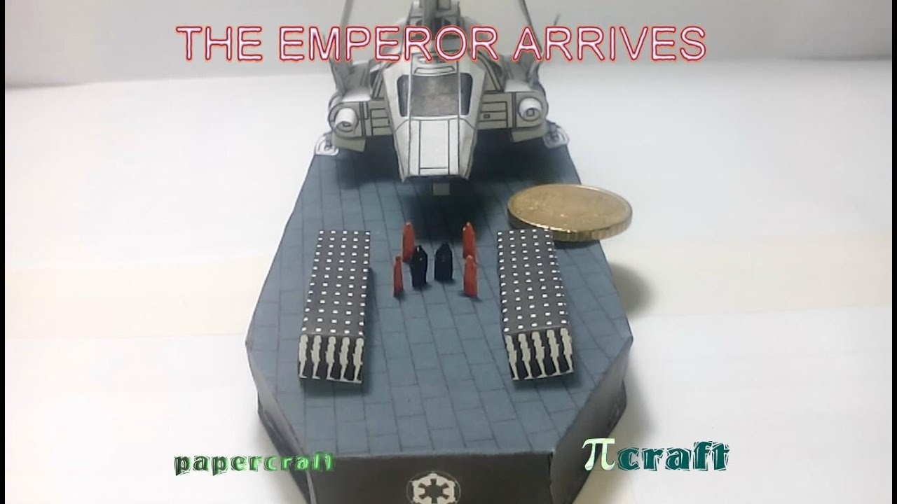 Papercraft The emperor arrives papercraft project