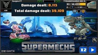 Supermechs⛅ Ending A T-Rex III 🦕 [39,000+ Damage]