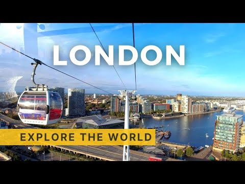 🇬🇧 EMIRATES AIR LINE 4K - Cable Car Experience in London, UK
