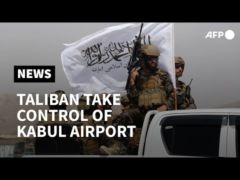 Taliban swoop into Kabul airport to celebrate defeating US | AFP