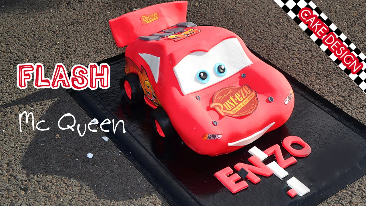 G teau cars flash mcqueen cake cake design youtube - Mcqueen flash mcqueen ...