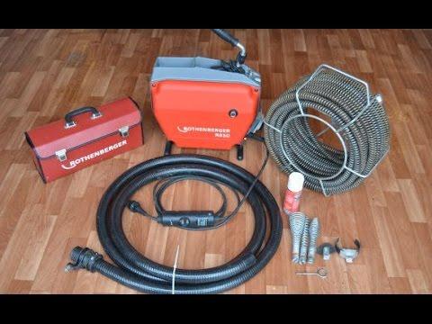 Прочистка канализации электромеханической машинкой Rothenberger.