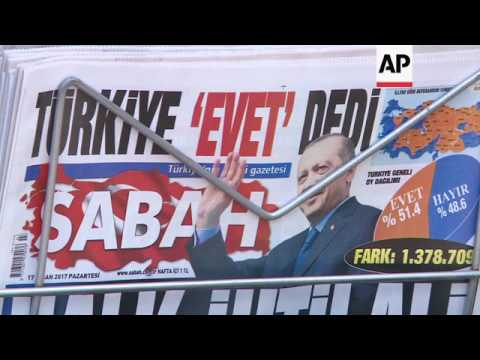 Ankara residents awake to Erdogan's disputed win