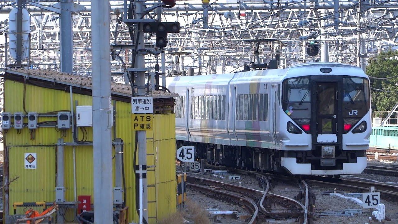 JR中央線特急あずさE257系新宿発車/JR Ltd. Exp. Azusa E257 Series/2014.0326 ...