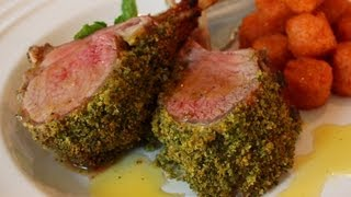 Mint-crusted Rack Of Lamb Recipe - Easter Special! Mint Crust Rack Of Lamb With Honey Vinaigrette