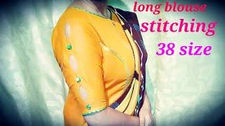 long stylish blouse stitching/lahenga,choli/ saree blouse part-2/2018