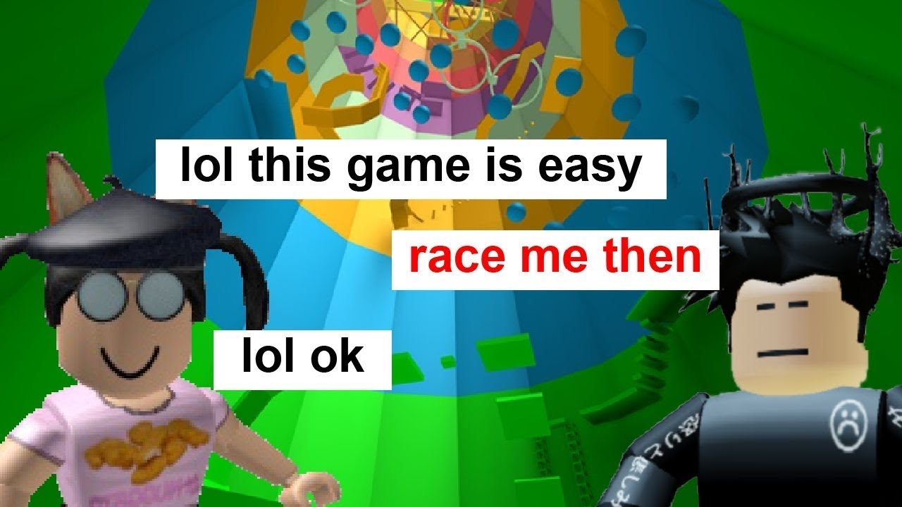 Roblox Tower Of Hell Racing An Overconfident Player Racing