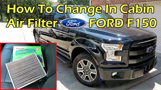 How To Change In Cabin Air Filter On Ford F150 2015 2020 Youtube