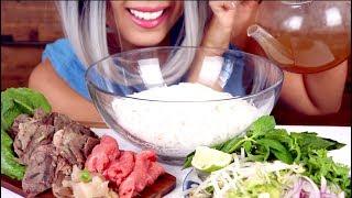 ASMR Eating Pho Dac Biet Noodles | Vietnamese Food Mukbang *No Talking