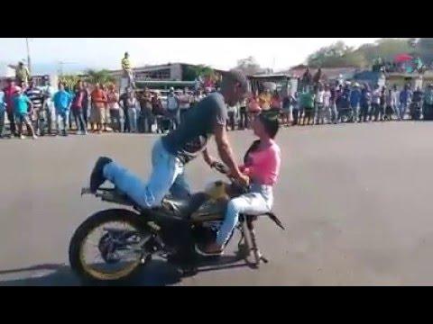 Girl bike stunt mania