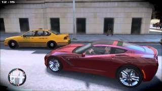 GTA IV No Gravity Mod Gameplay (Chevrolet Corvette C7 2014)