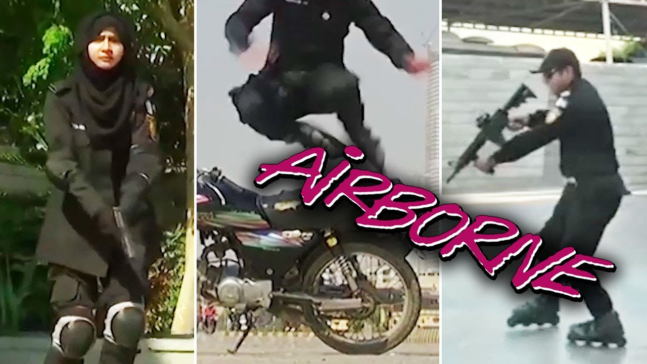 Ozzy Man Reviews: Pakistan Rollerblading Police