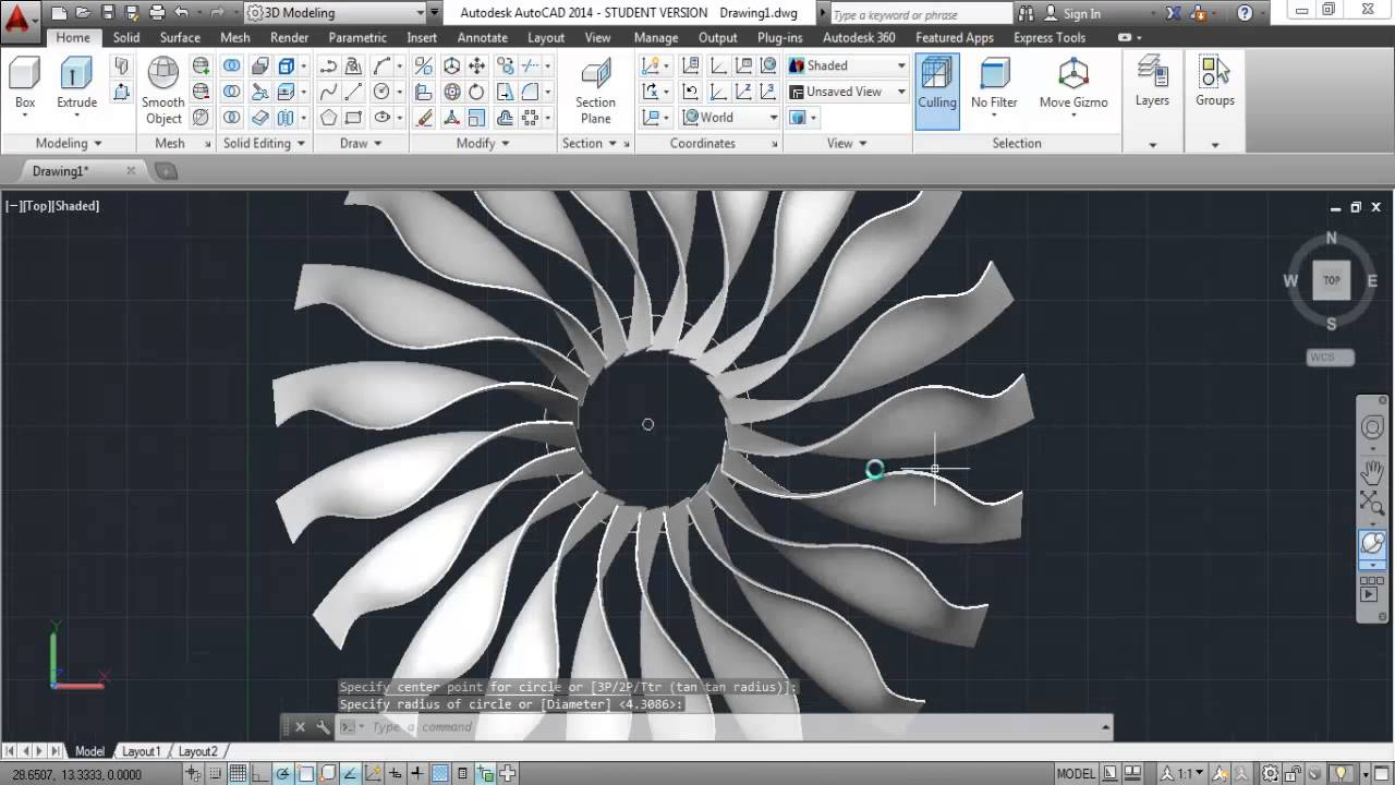 3d modelling jet engine with propeller in autocad youtube