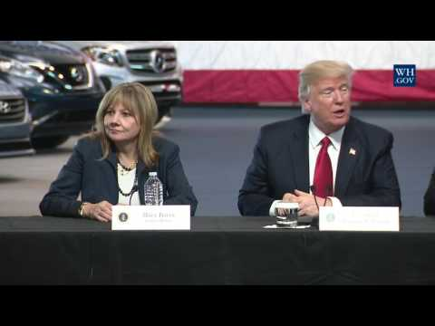 President Trump Leads a Roundtable with CEOs and Union Workers