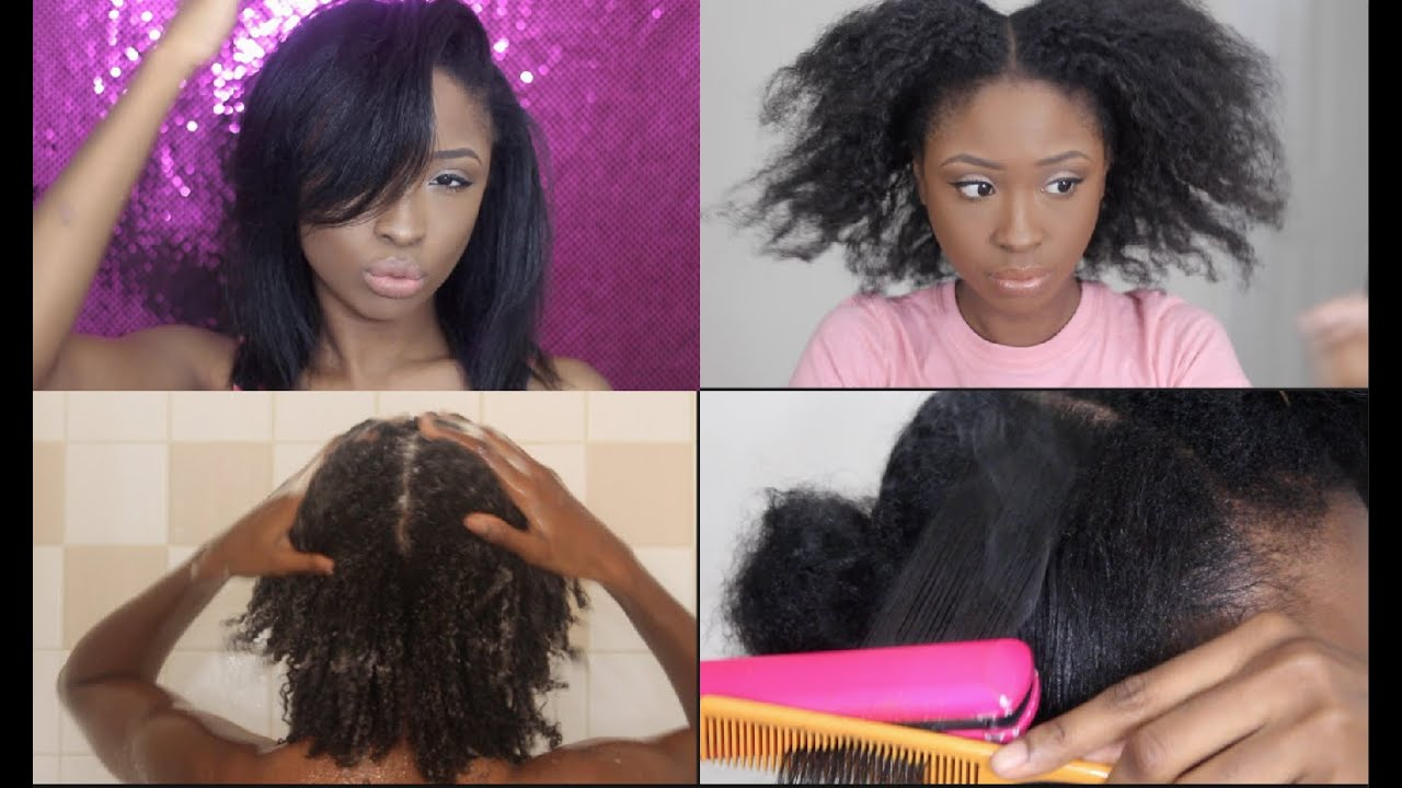 Natural Hair Flat Iron Routine