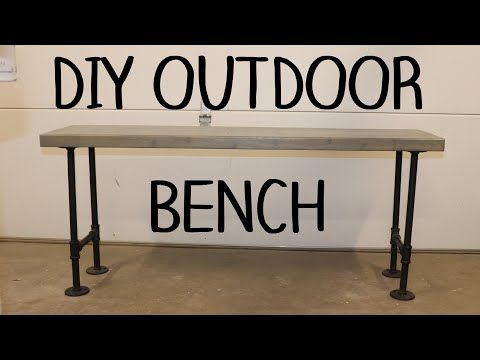 DIY Outdoor Benches / Wood and Metal Benches