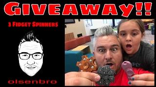3 Fidget Spinner Giveaway!!