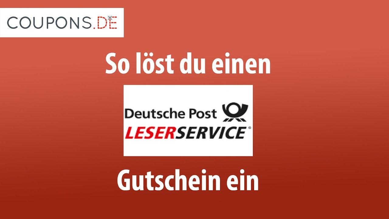 gutscheincode deutsche post leserservice