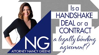 Is A Handshake Deal Or An Oral Contract A Legally Binding Agreement?