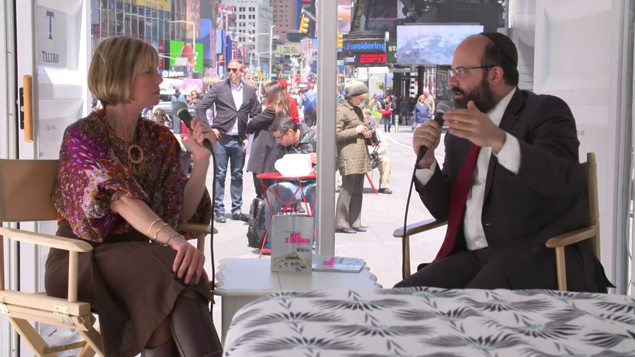 Hub Culture Times Square 2017 - Rabbi Avraham Berkowitz, Director, Chabad Headquarters