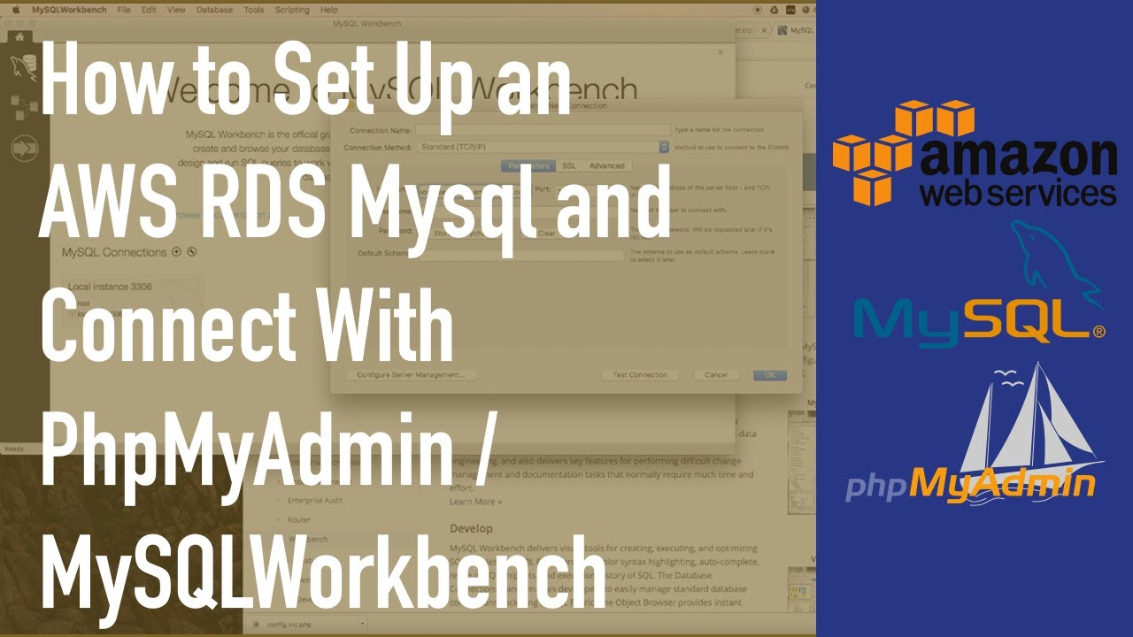 How to Set Up an AWS RDS Mysql and Connect With PhpMyAdmin/MySQLWorkbench