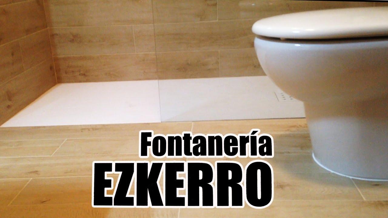 Plato de ducha a ras de suelo en donostia fontaner a - Platos de ducha a ras de suelo ...