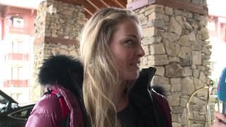 Lindsey Vonn arrive In Bansko
