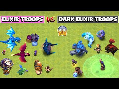 ELIXIR TROOPS VS DARK ELIXIR TROOPS | Clash of Clans - COC Reality