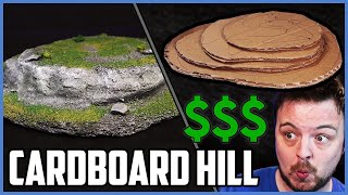 Cheapest Wargaming Hill - Cardboard Only - No XPS Foam - Poorhammer
