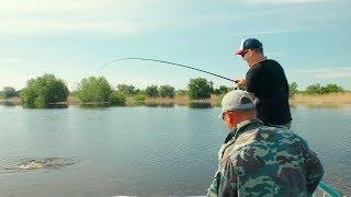 Вот это рыбалка! Не мог поверить, когда подвёл улов к лодке!