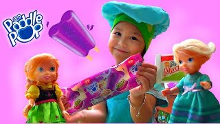Misha Pretend Play Toy Ice Cream Cart with Elsa and Anna Toddlers