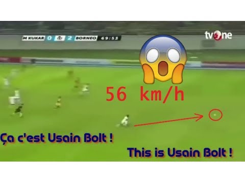 USAIN BOLT Speed 56 km/h !! France 98 Vs Fifa 98 | Fastest Football Player Ever