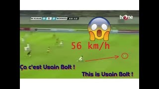 USAIN BOLT Speed 56 km/h !! France 98 Vs Fifa 98 | Fastest Football Player Ever