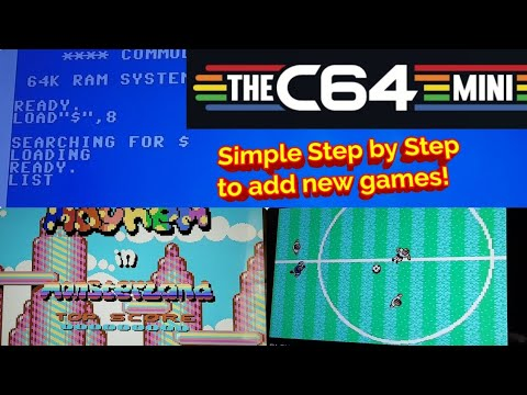 C64 Mini - SIMPLE Step by Step Guide to Adding new games - link to buy in  description