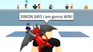 HOW TO ALWAYS WIN IN ROBLOX SIMON SAYS!!