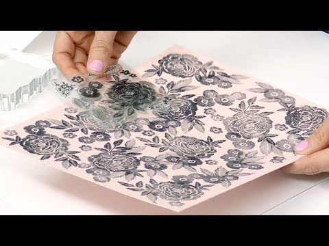 How To Create Pattern Paper With Stamps | Maggie Holmes