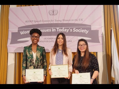 WFWP Speech Contest 2017 Women's Issues in Today's Society