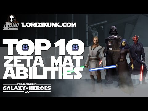 Top 10 Zeta Abilities in #SWGOH   Star Wars: Galaxy of Heroes