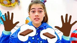 과자와 초콜릿에 관한 Nastya Artem과 Mia 이야기