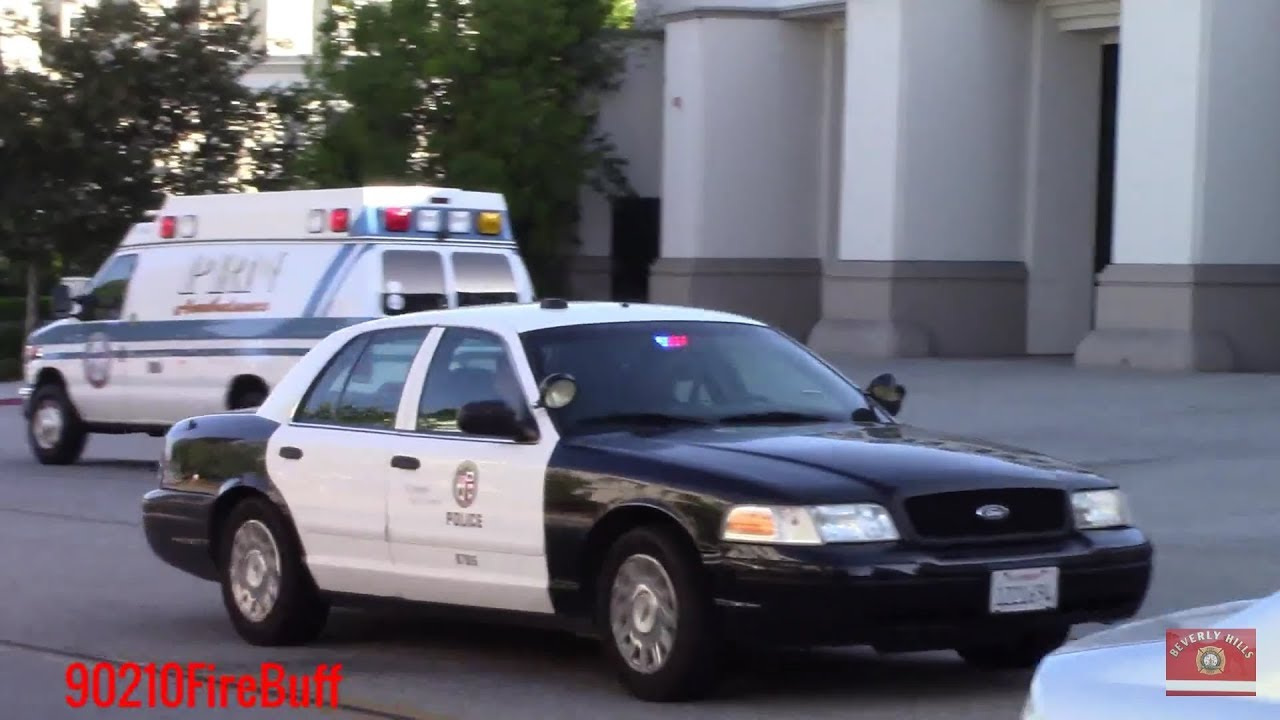 Lapd Slicktop Crown Vic Responding Code 3 In Beverly Hills Youtube