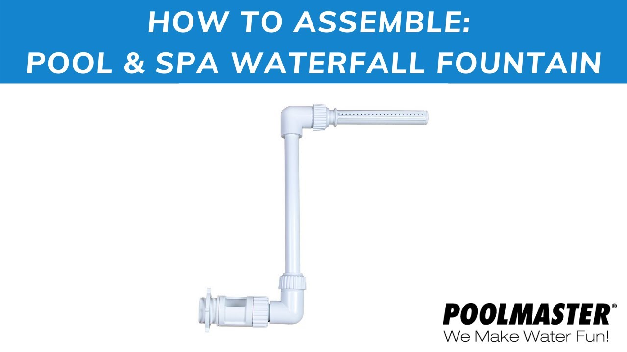 Pool Spa Waterfall Fountain Instructional Video Youtube