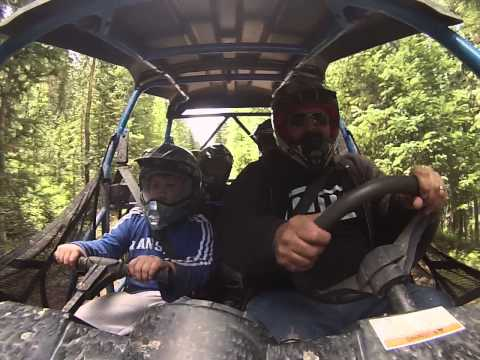 RZR inside view Colby up front.... Grand Lake, Colorado 2014