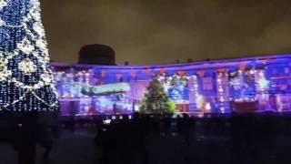Дворцовая площадь,  лазерное шоу